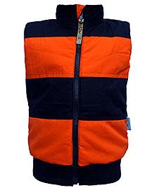 Gron High Neck Sleeveless Jacket - Orange
