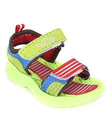 Footfun Sandal Dual Velcro Closure - Stripe Print