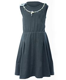 Mijn Sleeveless Dress With Attached Neck Piece - Dark Grey