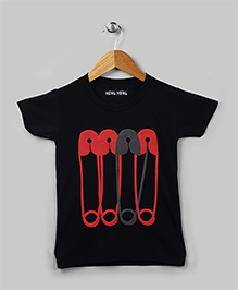 Family Theme Tee Pins Black for Mom Dad
