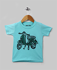 Family Theme Tee Scooter Aqua for Mom Dad