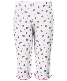 Babyhug Leggings Floral Print - White