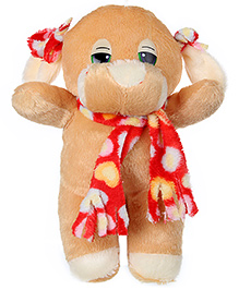 Tickles Dr Dog With Mufler Soft Toy - Brown