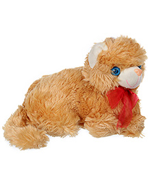 Tickle Cat Soft Toy - Brown