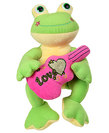Tickles Frog Soft Toy With Guitar - Green