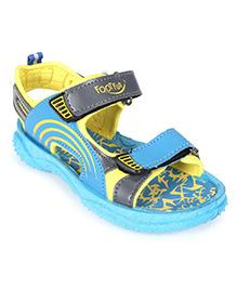 Footfun Sandal Dual Velcro Closure - Printed