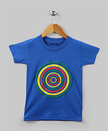 Family Theme Tee Bullseye Blue for Mom Dad
