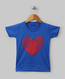 Family Theme Tee Heart Blue for Mom Dad