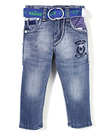 Tippy Full Length Jeans With Belt - Blue