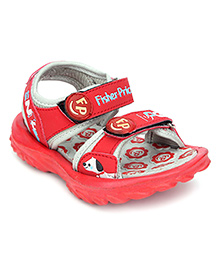 Fisher Price Sandal Dual Velcro Closure - Red