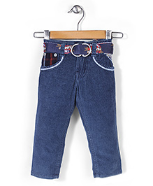 Tippy Full Length Jeans With Belt - Dark Blue