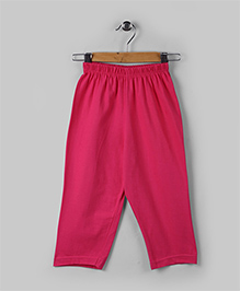Hot Pink Cotton Full Pants