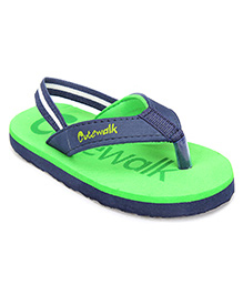 Cute Walk Flip Flops With Back Strap - Green