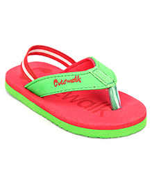 Cute Walk Flip Flops With Back Strap - Red