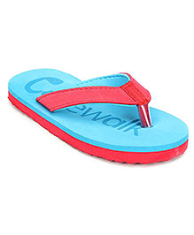 Cute Walk Flip Flops Dual Colour - Blue And Red