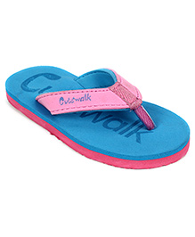 Cute Walk Slippers - Blue And Pink