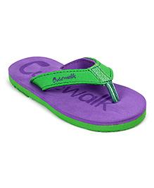 Cute Walk Slippers - Purple And Green