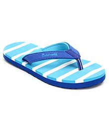 Cute Walk Flip Flops Stripes - Turquoise