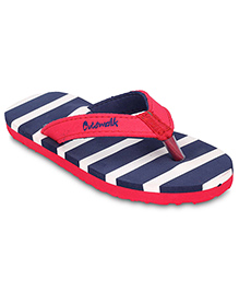 Cute Walk Slipper With Back Strap - Blue And Red