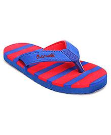 Cute Walk Flip Flops Stripes - Red