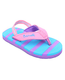 Cute Walk Slipper With Back Strap - Pink And Purple