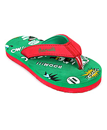 Cute Walk Flip Flops - Red And Green