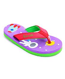 Cute Walk Flip Flops - Purple And Red