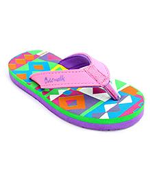 Cute Walk Flip Flops - Pink And Green
