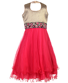 Doll Sleeveless Frock - Sequin Work