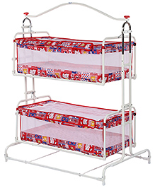 New Natraj Compact Twin Cradle - Red