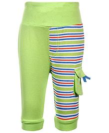 FS Mini Klub Leggings Green - Stripes Pattern