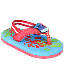 Fisher Price Flip Flop With Elasticated Strap - Hippo Applique