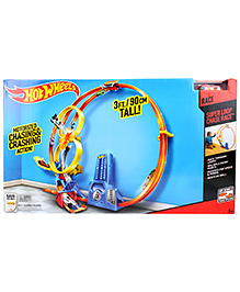 Hotwheels Super Loop Chase Race Trackset - Multi Colour