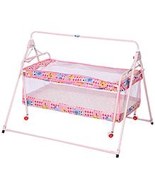 New Natraj Sleep Well Baby Cradle  Pink - Giraffe Print
