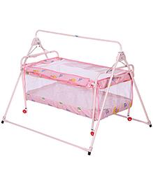 New Natraj Sleep Well Baby Cradle Pink - Bear Print