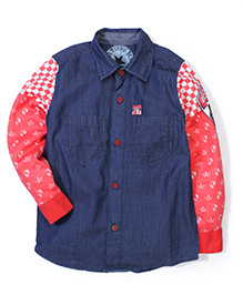 Tippy Full Sleeves Shirt - Contrast Pattern