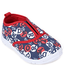 Tom and Jerry Canvas Shoes Slip On - Alphabet Printed