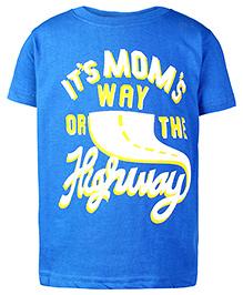 Babyhug Half Sleeves T-Shirt - Royal Blue