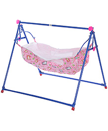 Mouthertouch Indo Cradle Pink - Bear And Strawberry Print