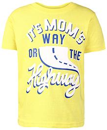 Babyhug Half Sleeves T-Shirt - Yellow
