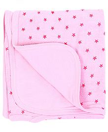 Babyhug Star Print Towel - Pink