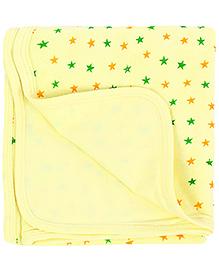 Babyhug Star Print Towel - Light Yellow