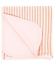 Babyhug Towel Stripes Print - Light Orange