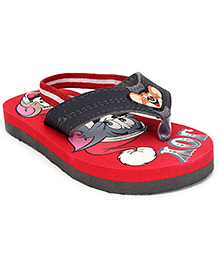 Tom and Jerry Flip Flop With Elasticated Strap - Jerry Applique