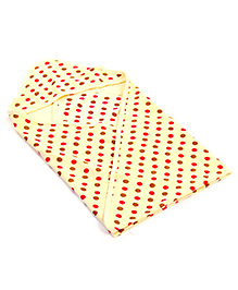 Babyhug Hooded Towel - Polka Dot Print