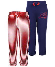 FS Mini Klub Leggings Red And Navy Blue - Set of 2