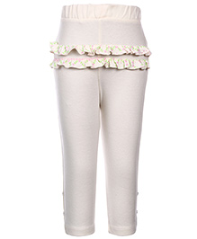FS Mini Klub Solid Color Leggings - Ruffled Pattern