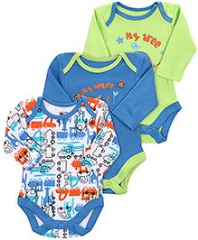 FS Mini Klub Full Sleeves Onesies - Set Of 3 - 9 To 12 Months