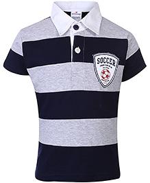 Ollypop Half Sleeves T-Shirt - Navy And Grey