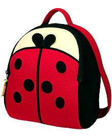 Elefantastik Lady Bug Backpack - Red And Black - 12 X 11 X 6 Inches